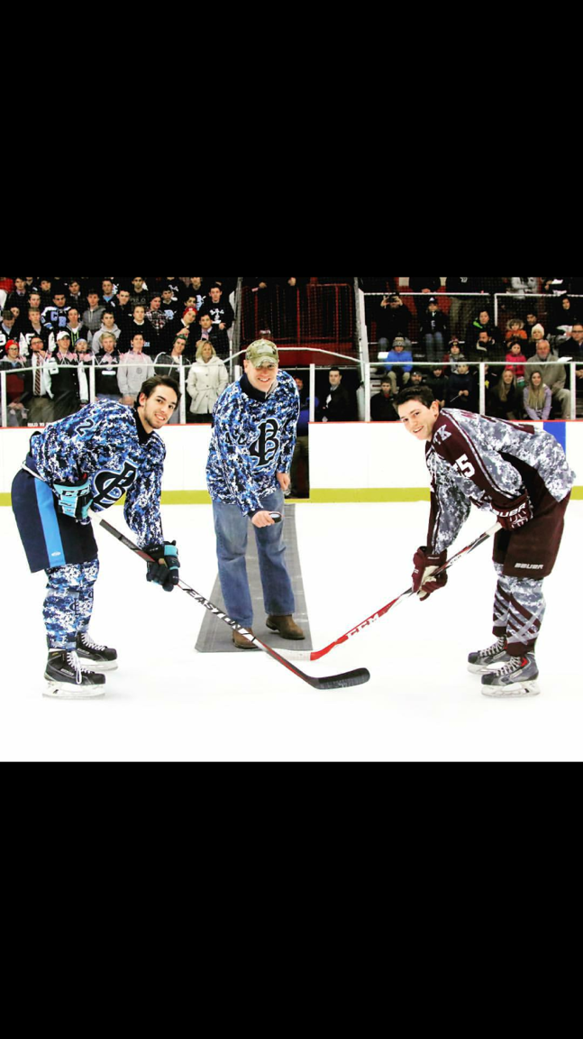 CBA Military Night Hockey Game: Dropping of the puck