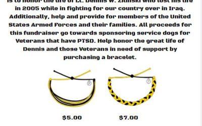 Lt. Dennis W. Zilinski Pura Vita Bracelet Fundraiser